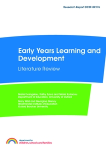 Assessment of Wellbeing in Early Childhood Education and Care  Literature  Review