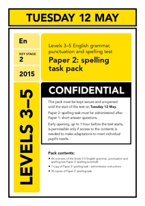 Levels 3-5 English grammar, punctuation and spelling test  Paper 2