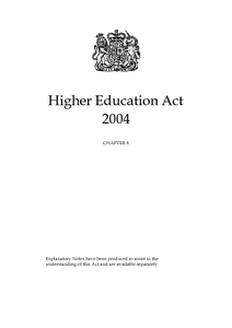 Higher Education Act 2004 : Elizabeth II. 2004. Chapter 8 ...
