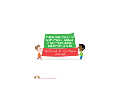 independent review of mathematics teaching in early years